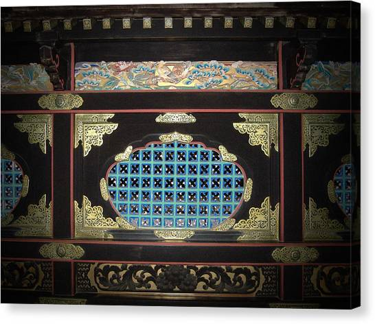 Temples Canvas Print - Wall Ornament by Naxart Studio