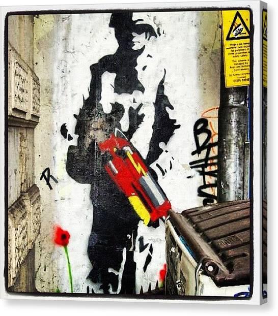 Guns Canvas Print - #wall #wallart #instawall #stokescroft by Nigel Brown