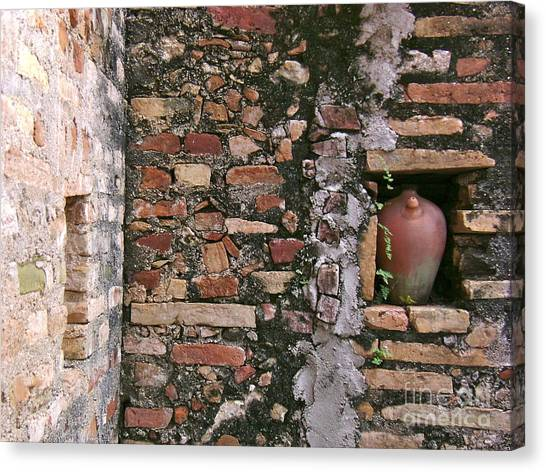 Wall With Vessel Canvas Print by Laurel Fredericks