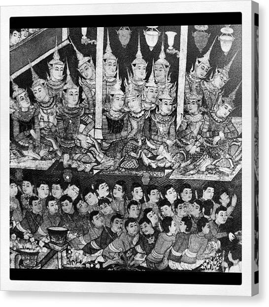 Temples Canvas Print - #wallart #at #buddhisttemple #chiangmai by Anucha Karn