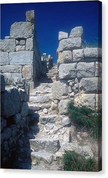 Walls Of Thera Canvas Print by Andonis Katanos