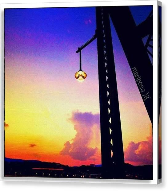 Tennessee Canvas Print - Walnut Street Sunset by Mari Posa