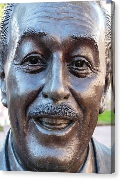 Walt Disney Bust Canvas Print