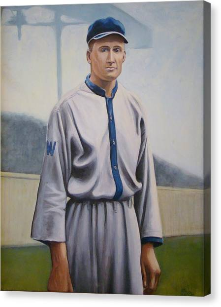 Walter Johnson Canvas Print by Mark Haley