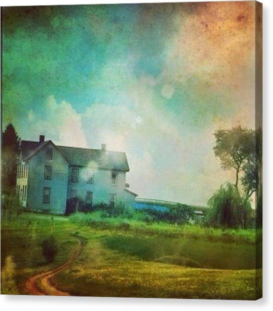 Farmhouse Canvas Print - Wandering by Janet DiLeonardo