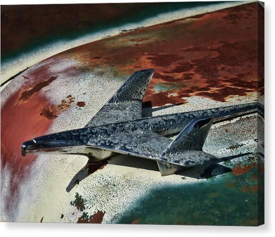 Hood Ornaments Canvas Print - War Bird by Douglas Pittman
