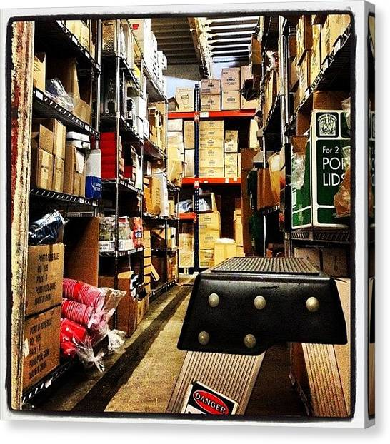 Warehouses Canvas Print - Warehouse #warehouse #work #storage by Nicholas Colacicco