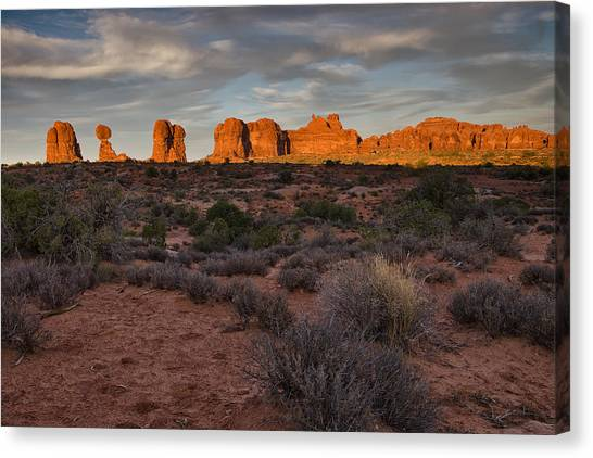 Rock Canvas Print - Warm Glow Over Arches by Andrew Soundarajan