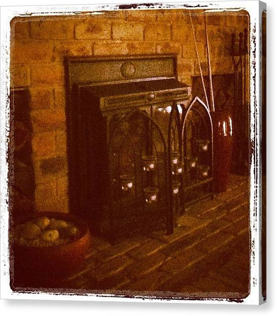 Lounge Canvas Print - Warm Hearth by Blaze Massey