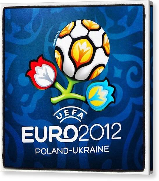 Soccer Canvas Print - #warsawa #uefaclub #uefa #polska by Cyril Attias