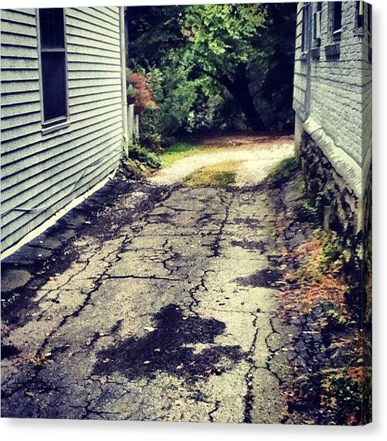 Dirt Road Canvas Print - Was In Plymouth, Massachusetts :) #road by Sam Schwartz