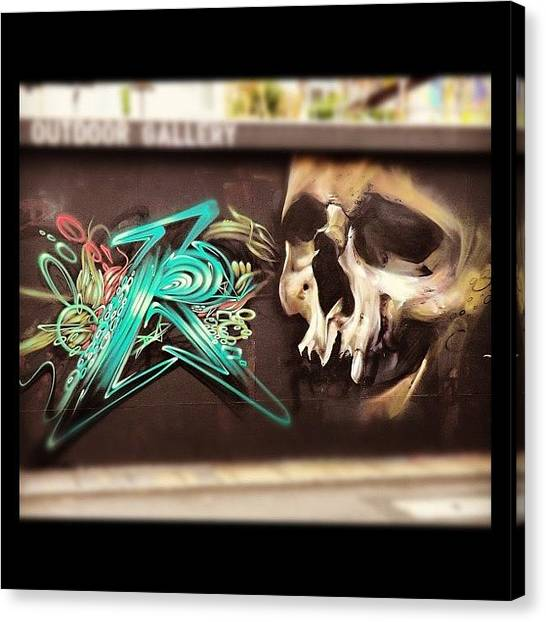 Skulls Canvas Print - Was On Jamaica Street. #bristol by Nigel Brown