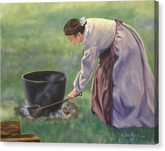 Wash Day II Canvas Print