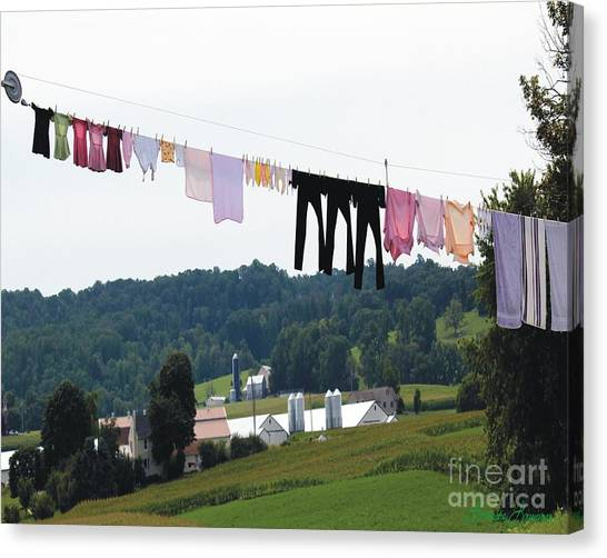 Wash Day Canvas Print by Lorraine Louwerse