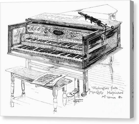 Harpsichords Canvas Print - Washington: Harpsichord by Granger