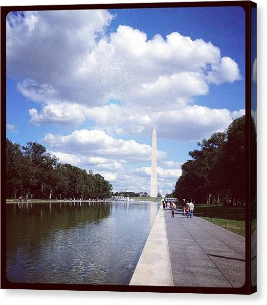Washington Monument Canvas Print - Washington Monument by Marguerite Portagallo