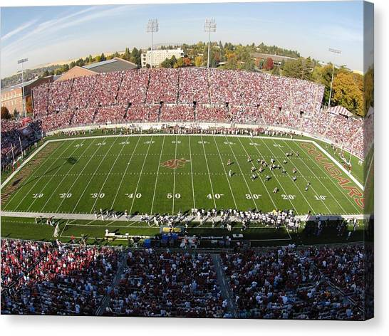 Washington State University Canvas Print - Washington State Martin Stadium  by Washington State University - Marketing and Communications