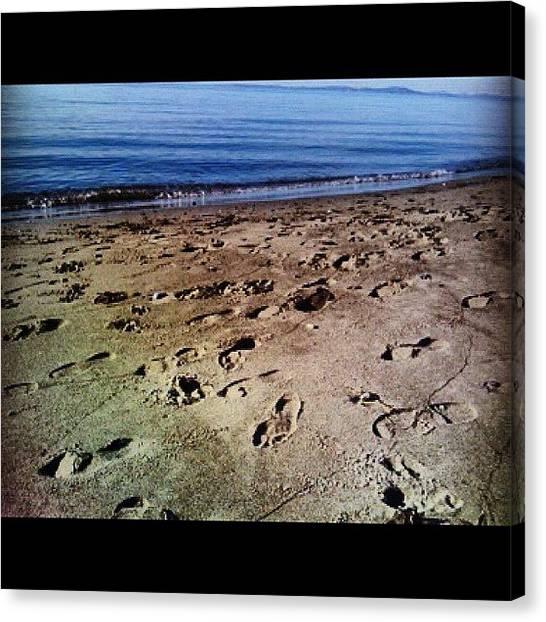 Beach Cliffs Canvas Print - #washington #whidbeyisland #beach #sand by Kimberley Kacho