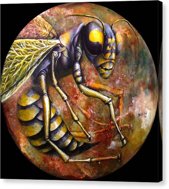 Wasp Canvas Print by Rust Dill