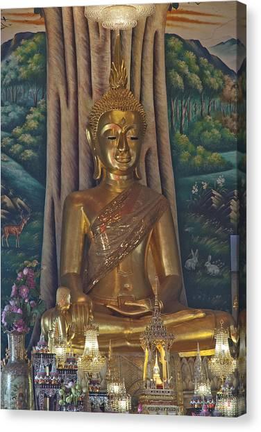 Wat Kaewjamfa Ubosot Principal Buddha Dthb1072 Canvas Print