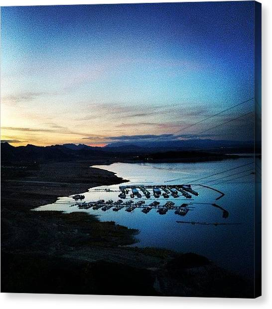 Hurricanes Canvas Print - Watched The Sun Set Over Lake Mead by Hurricane Katrina