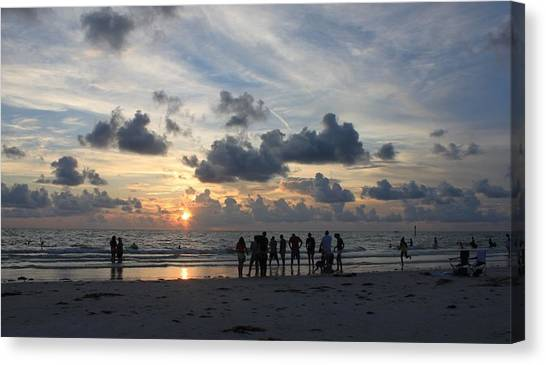 Watchers At Sunset Canvas Print