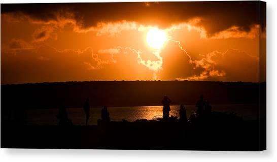 Watching Sunset Canvas Print