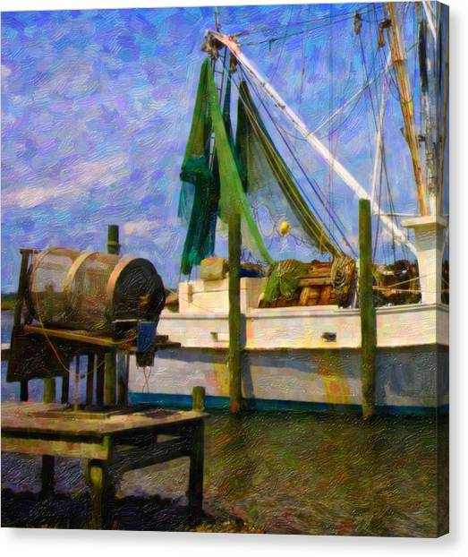 Crabbing Canvas Print - Watching Within A Frame by Betsy Knapp