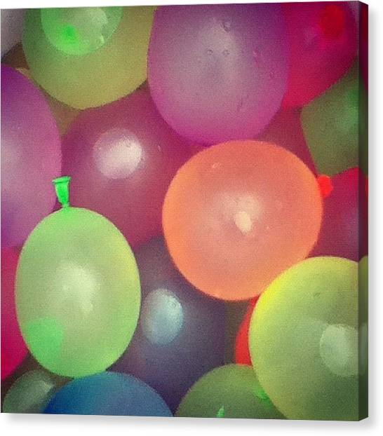 Limes Canvas Print - Water Balloons by Kayla Mitchell