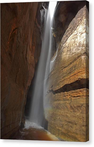 Water Canyon Canvas Print