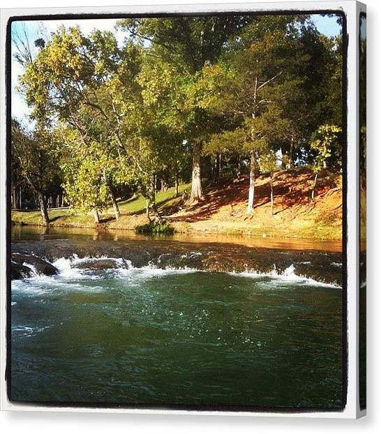 Arkansas Canvas Print - #water #fall #spring #river #many by Michael Hughes