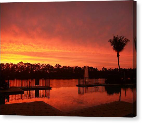 Water Fences Canvas Print