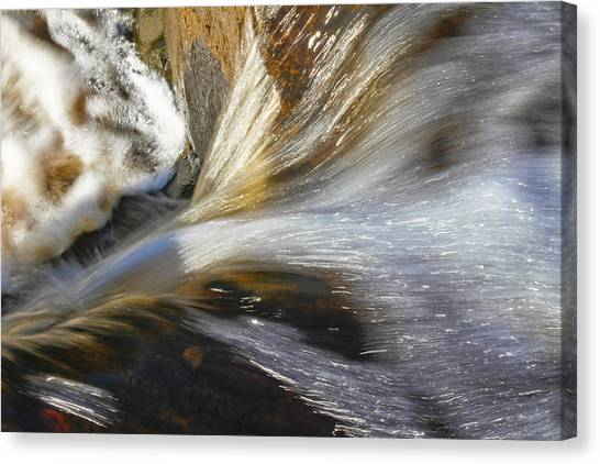 Water In Motion Canvas Print by Wayne Stabnaw