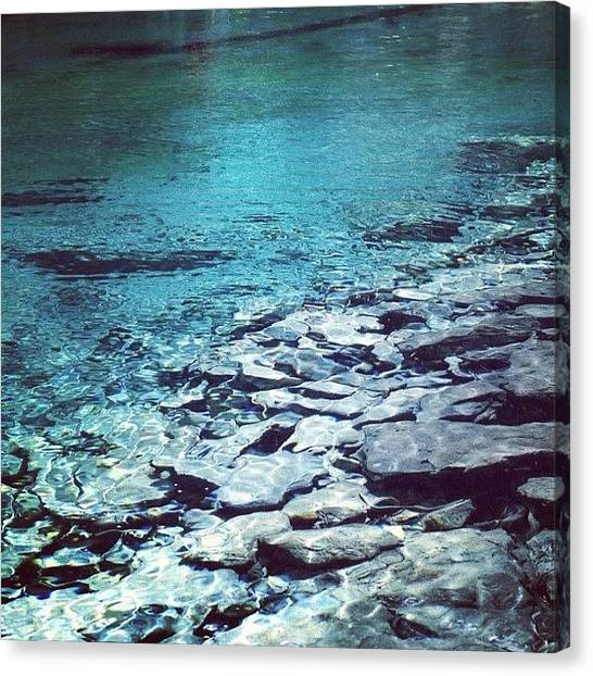 Vacations Canvas Print - Water Is The Only Drink For A Wise Man by A Rey