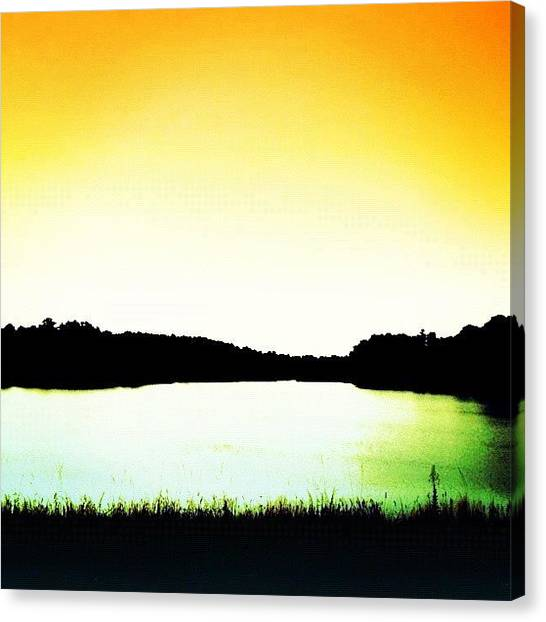 Sunset Horizon Canvas Print - Water by Katie Williams