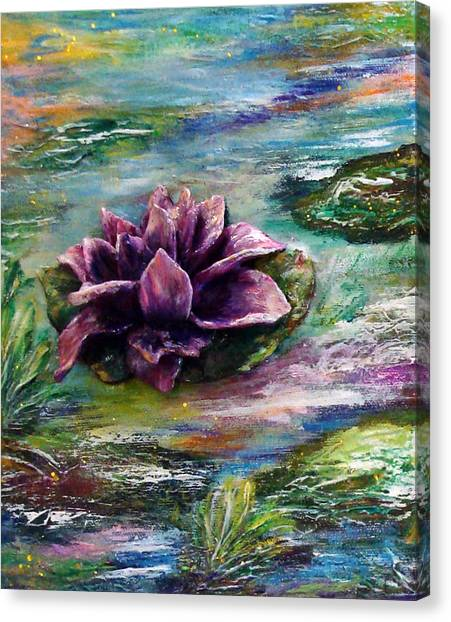 Water Lilies - Two Pieces Canvas Print
