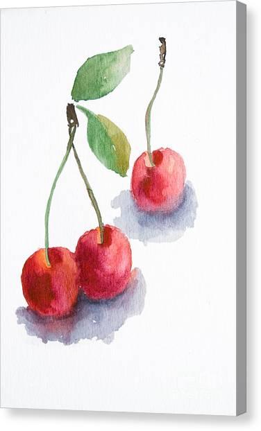 Watercolor Cherry  Canvas Print