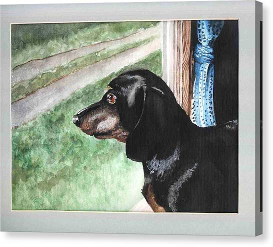 Watercolor Dog Canvas Print by Kyle Gray