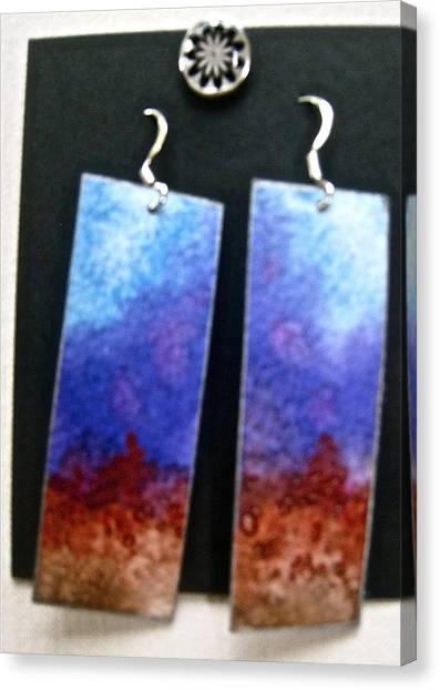 Artisan Jewelry Canvas Print - Watercolor Earrings Artists Favorite by Beverley Harper Tinsley