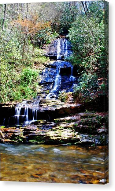 Waterfall Canvas Print by Carrie Munoz