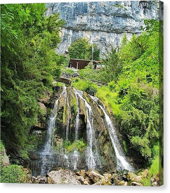 Swiss Canvas Print - Waterfall Landscape by Rishi Sood