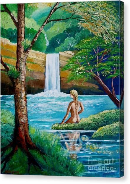 Waterfall Nymph Canvas Print