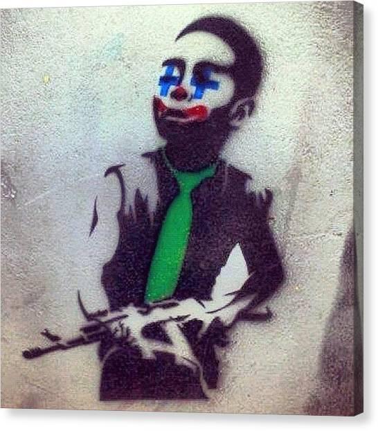 Guns Canvas Print - #waterloo #gun #clown #ighub #igers by Neil Ormsby