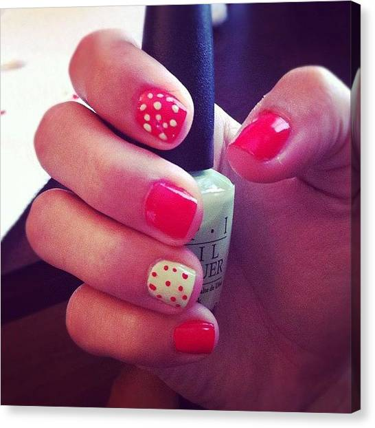 Watermelons Canvas Print - #watermelon #nails #nailart #fashion by Karina Garay