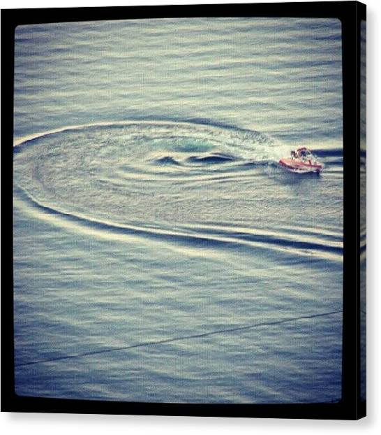 Water Skis Canvas Print - #waterskiing On #lakemead by Holly Sharpe-moore