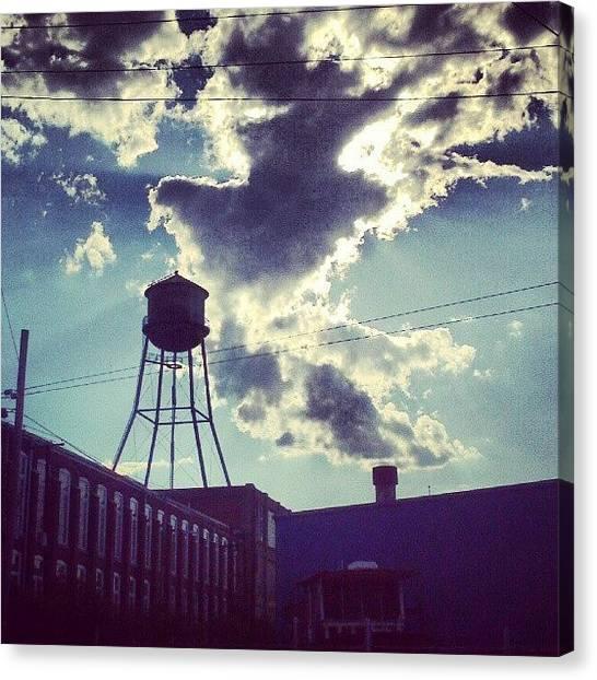 Kentucky Canvas Print - #watertower #clouds #sunshine #amaro by Andi Bish