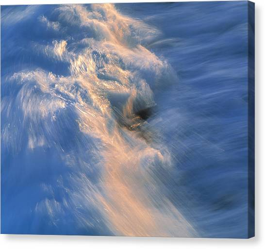 Wave Striking Rock Canvas Print by G. Brad Lewis