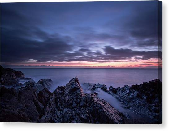 Wave Whispers At Dawn Canvas Print