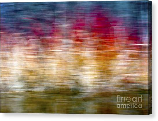 Red Camo Canvas Print - Rainbow Abstract by Glenn Gordon