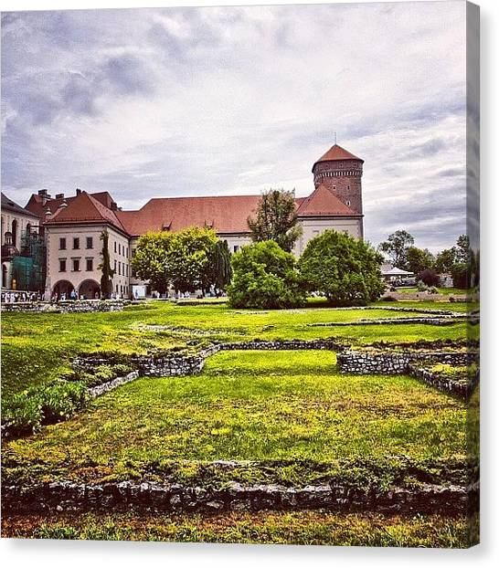 Kings Canvas Print - Wawel Royal Castle, From The by Grigorii Arzhanykh